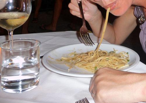 Spaghetti aglio e vongole