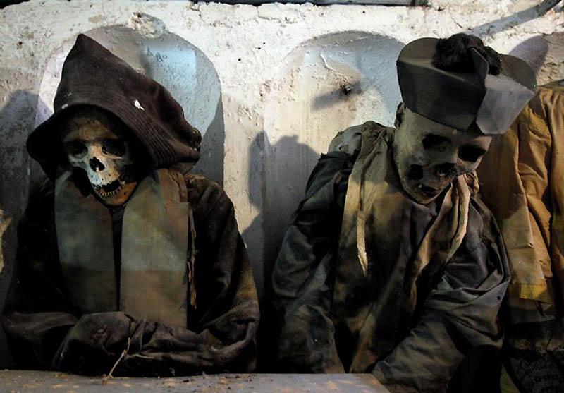 Cadavres de Religieux - Crypte des Capucins Palerme