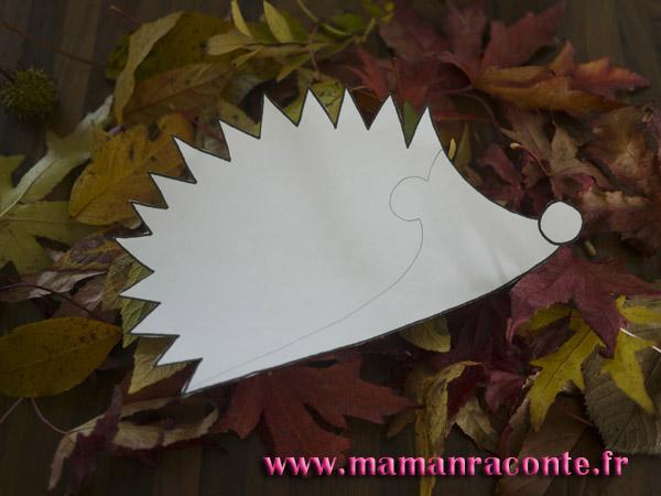 Hérisson en feuille d'automne - étape 4