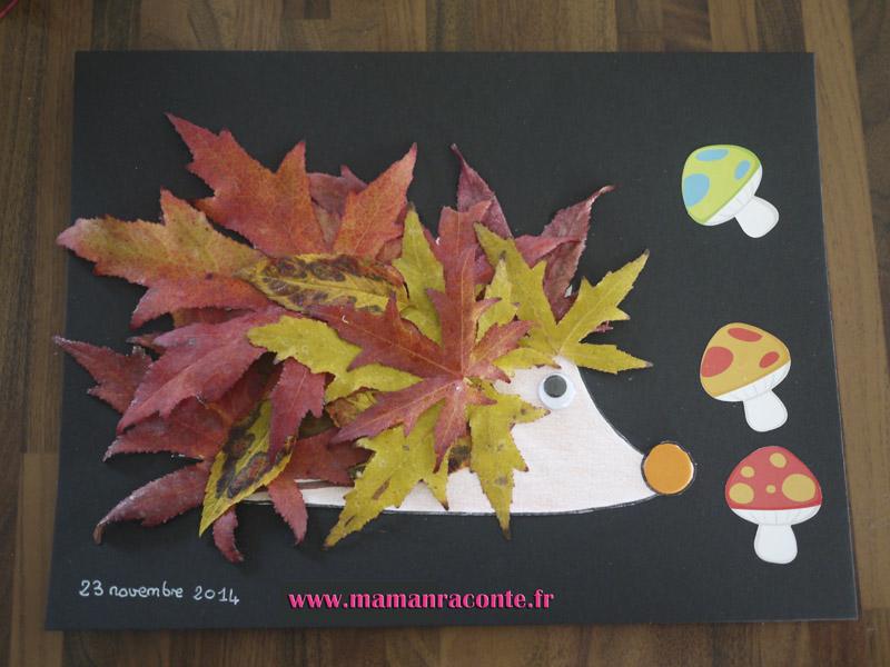 Hérisson feuilles d'automne final