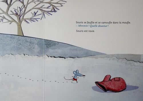 La moufle illustrations Cécile Hudrisier