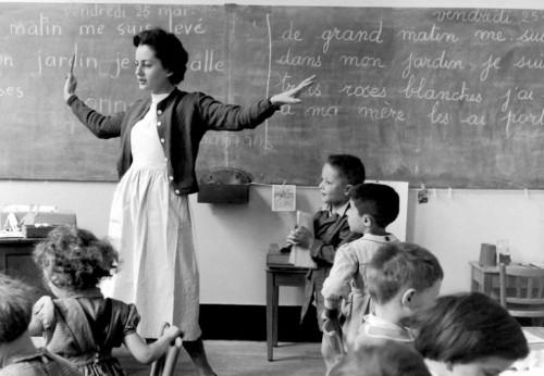 Robert doisneau-école de la rue de Verneuil, 1956