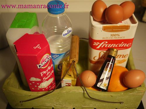 Ingrédients chouquettes