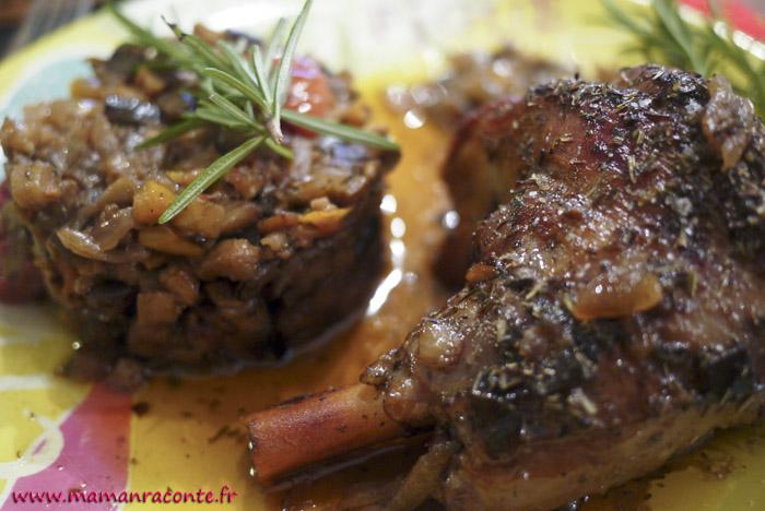 Souris d'agneau confites et ratatouille provençale2
