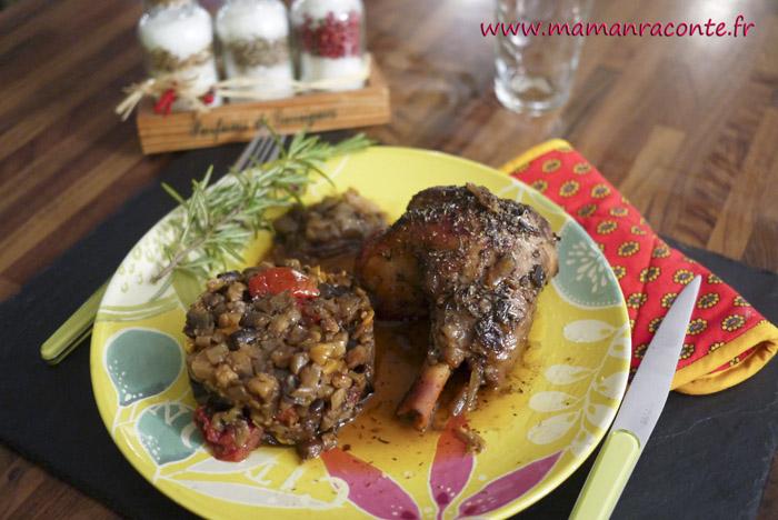 Souris d'agneau confites et ratatouille provençale3