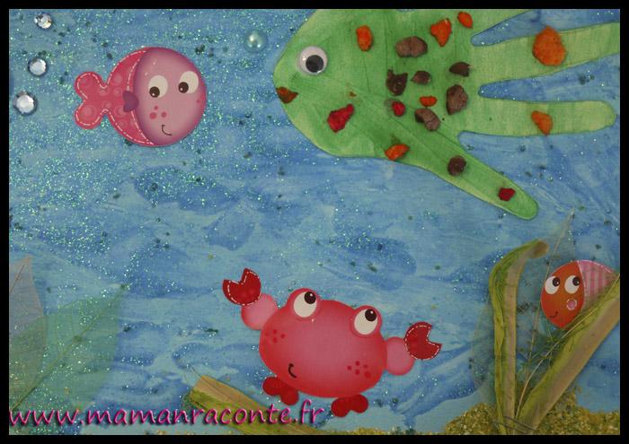 Au fond de l'océan - bricolage des tout-petits 8b