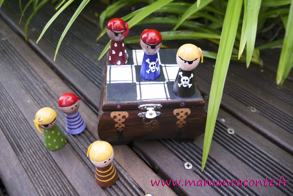 Jeu de morpion DIY - pirates 2