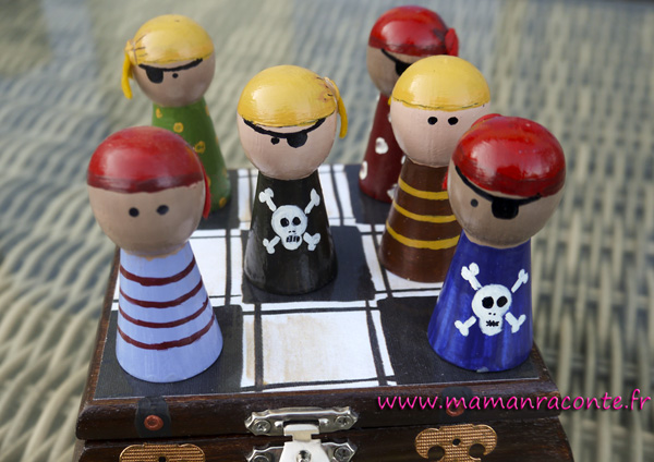 Jeu de morpion DIY - pirates 5