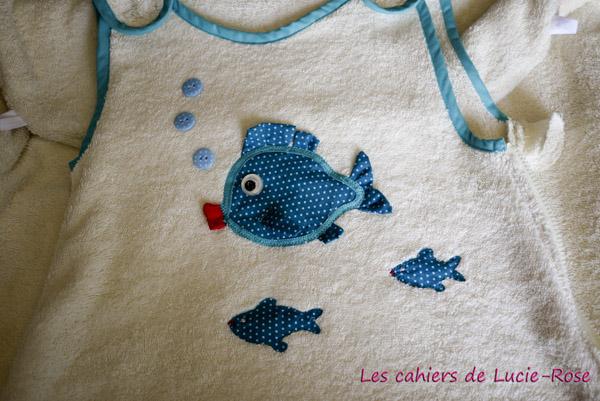 Gigoteuse été en éponge - motif poisson DIY 2