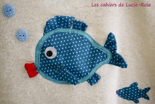 Gigoteuse été en éponge - motif poisson DIY 4