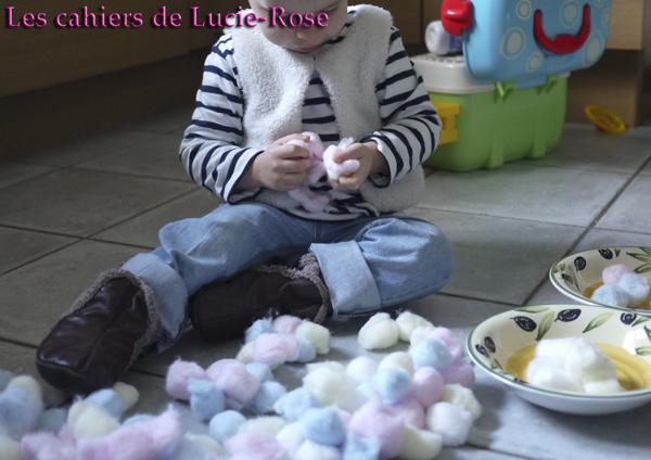Mouton en boules de coton - les cahiers de Lucie-Rose #5