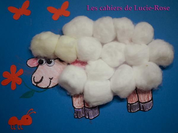 le mouton en boules de coton bricolage des tout petits 4. Black Bedroom Furniture Sets. Home Design Ideas