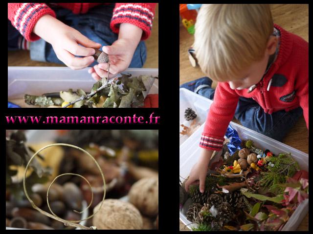 Bac sensoriel de la forêt 13 © les cahiers de Lucie-Rose