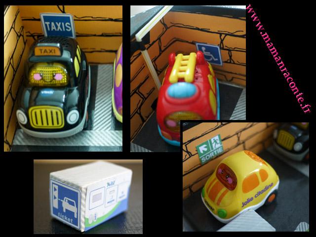 Parking pour petites voitures fabriqué avec une boite en carton3