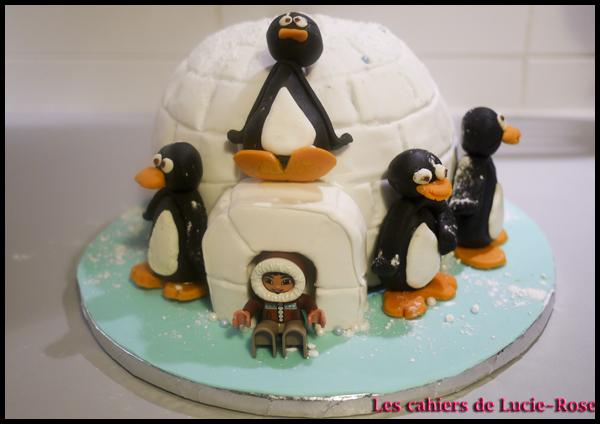 Gâteau igloo - les cahiers de Lucie-Rose 1