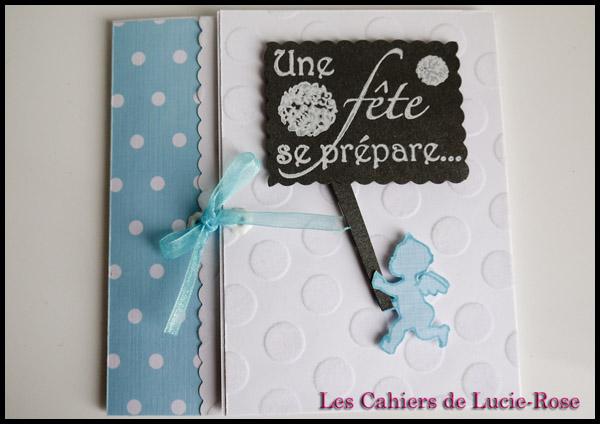 Faire-part de baptême scrapbooking (c) Les Cahiers de Lucie-Rose 3
