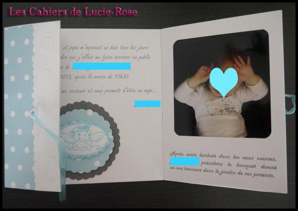 Faire-part de baptême scrapbooking (c) Les Cahiers de Lucie-Rose 4
