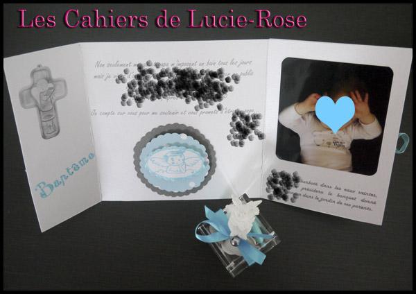 Faire-part de baptême scrapbooking (c) Les Cahiers de Lucie-Rose 8