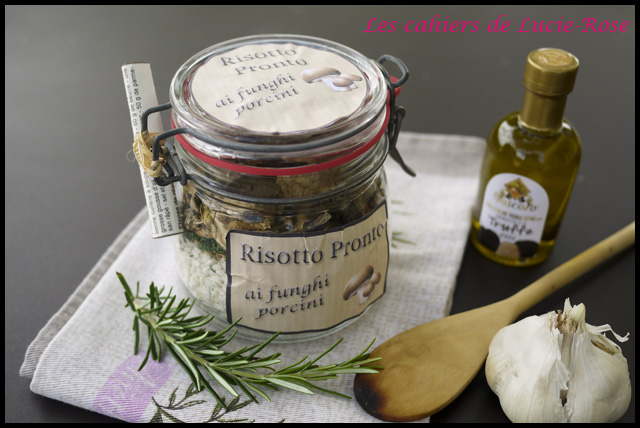 Kit cadeau risotto aux cèpes en bocal - Les cahiers de Lucie-Rose1