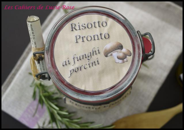 Kit cadeau risotto aux cèpes en bocal - Les cahiers de Lucie-Rose3
