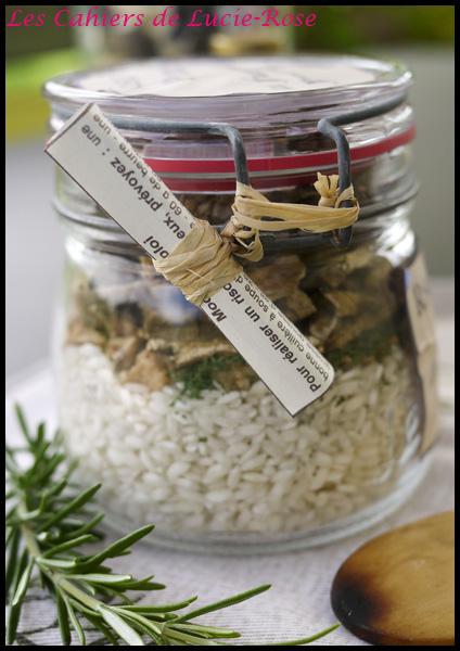 Kit cadeau risotto aux cèpes en bocal - Les cahiers de Lucie-Rose4