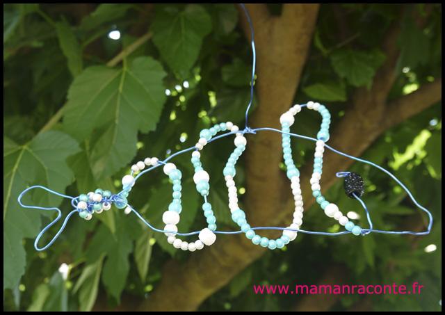 Poisson en perles et fil de fer (c) les cahiers de Lucie-Rose 1