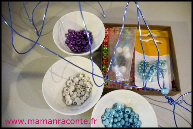 Poisson en perles et fil de fer (c) les cahiers de Lucie-Rose 2