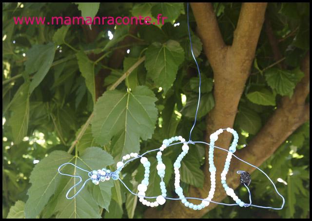Poisson en perles et fil de fer (c) les cahiers de Lucie-Rose 7