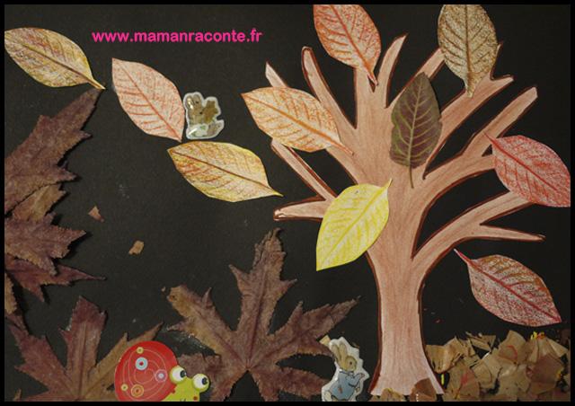 l arbre d automne et ses derni res feuilles bricolage des. Black Bedroom Furniture Sets. Home Design Ideas