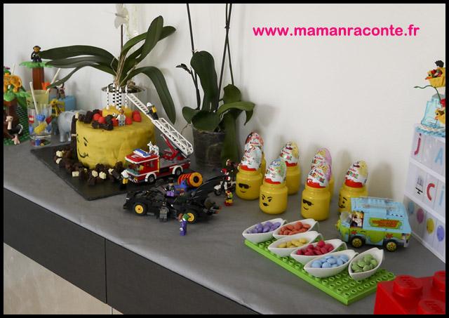 10. décoration buffet anniversaire Lego - les cahiers de Lucie-Rose