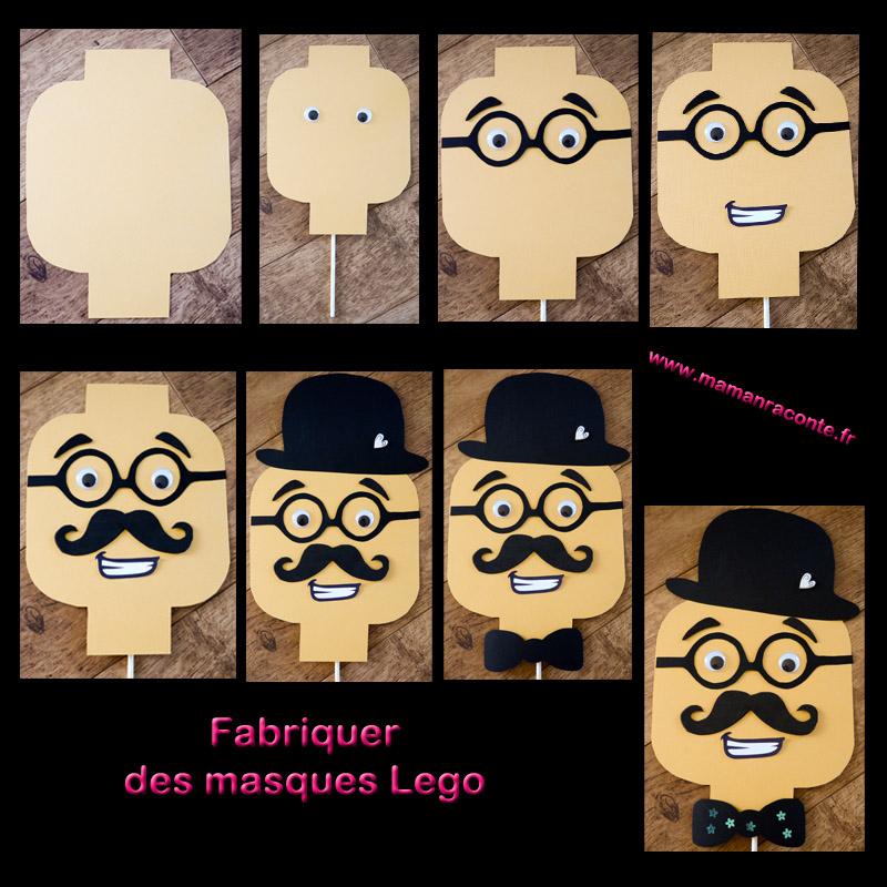 15. Masque Lego DIY anniversaire - les cahiers de Lucie-Rose
