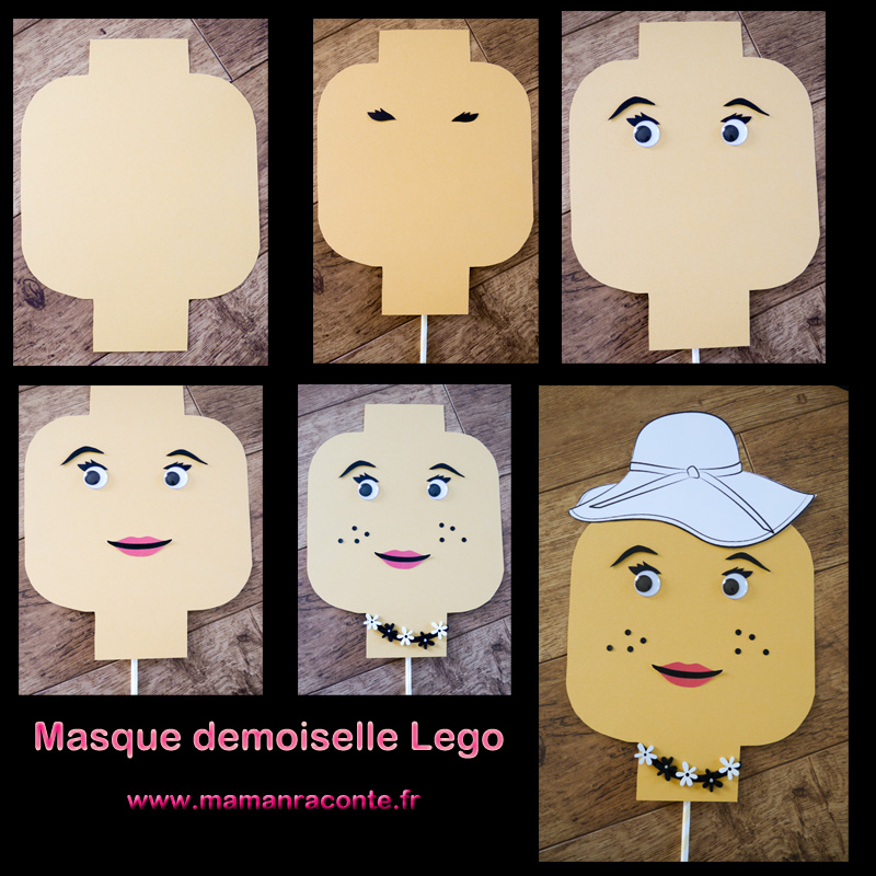 16. Masque Lego DIY anniversaire - les cahiers de Lucie-Rose
