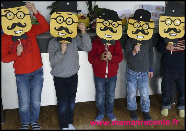 17. Masque Lego DIY anniversaire - les cahiers de Lucie-Rose