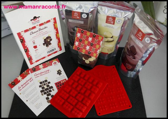 24.briques en chocolat pour anniversaire Lego - les cahiers de Lucie-Rose