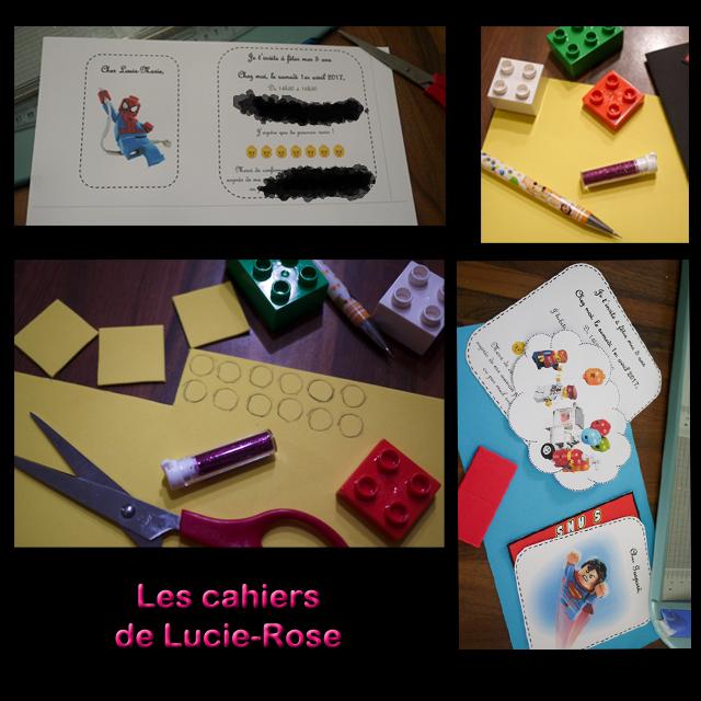3. Carton d'anniversaire Lego pour ses 5 ans - les cahiers de Lucie-Rose