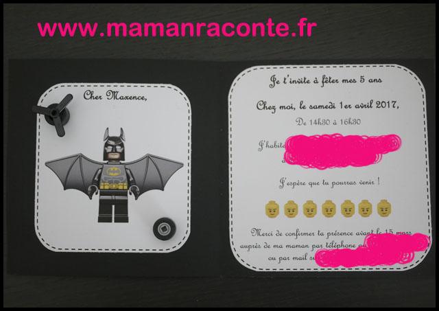 5. Carton d'anniversaire Lego pour ses 5 ans - les cahiers de Lucie-Rose