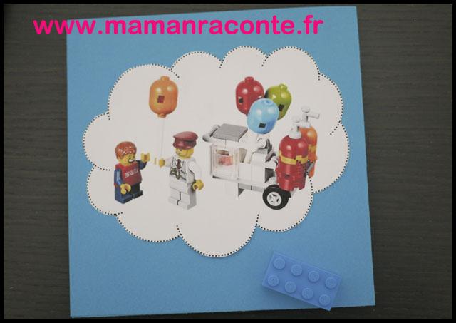 6. Carton d'anniversaire Lego pour ses 5 ans - les cahiers de Lucie-Rose
