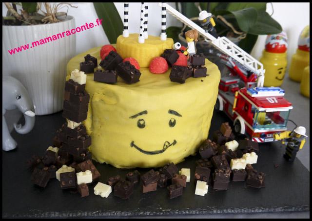 7. Gâteau anniversaire Lego pour ses 5 ans - les cahiers de Lucie-Rose