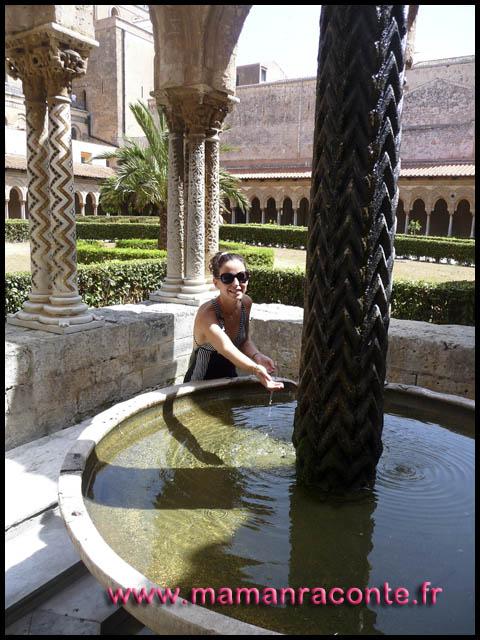 cloitre cathedrale monreale Palerme (c) les cahiers de Lucie-Rose