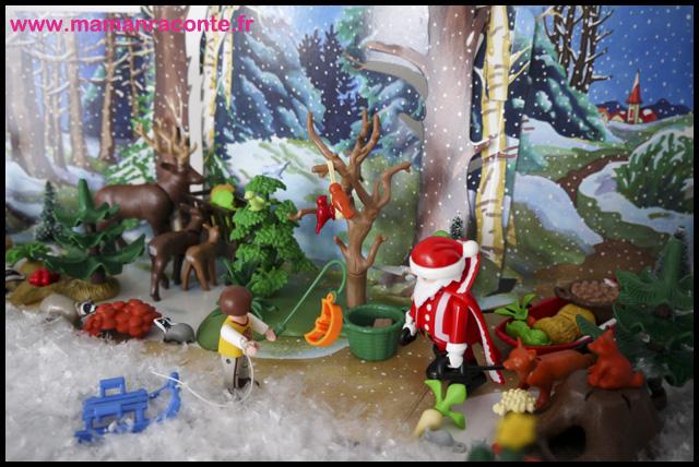12. Calendrier avent forêtPère noël Playmobil (c) Les Cahiers de Lucie-Rose