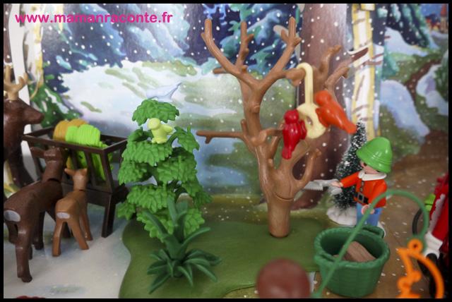 13. Calendrier avent forêtPère noël Playmobil (c) Les Cahiers de Lucie-Rose