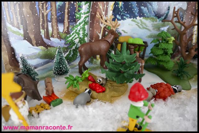 14. Calendrier avent forêtPère noël Playmobil (c) Les Cahiers de Lucie-Rose