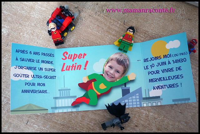 10. Carton invitation anniversaire enfant - maman raconte