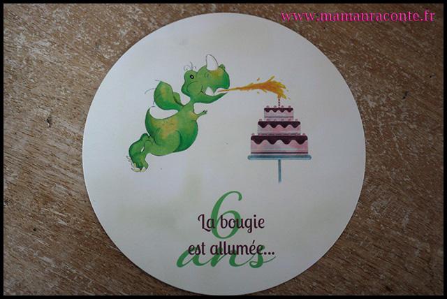 3. Carton invitation anniversaire enfant - maman raconte