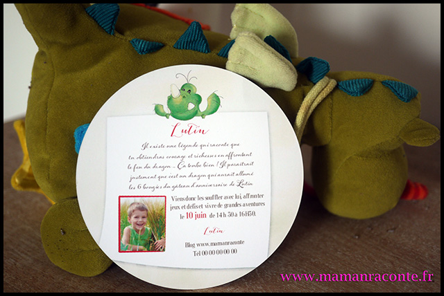 4. Carton invitation anniversaire enfant - maman raconte