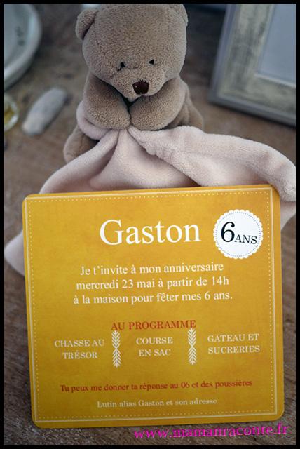 6. Carton invitation anniversaire enfant - maman raconte