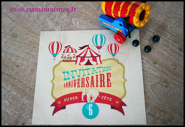 7. Carton invitation anniversaire enfant - maman raconte