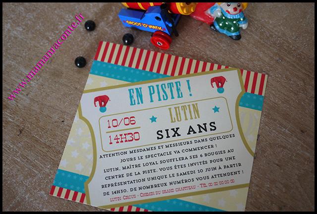 8. Carton invitation anniversaire enfant - maman raconte