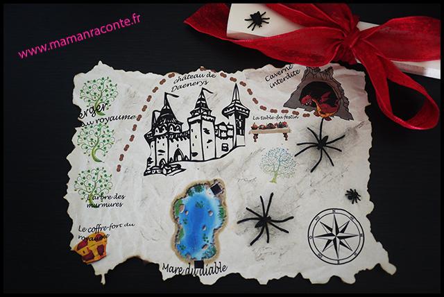 1. Carte au trésor - anniversaire enfant dragons