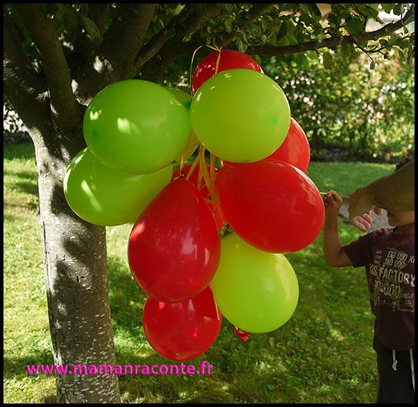 15. jeu de ballons anniversaire dragons